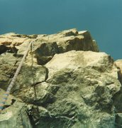 Rock Climbing Photo: The route somewhere here, I think, when I rapped i...