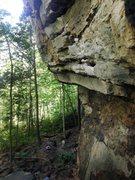 Rock Climbing Photo: Resting before sending the last bit of Psycho Wran...
