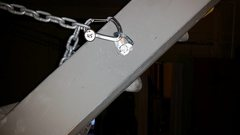 Rock Climbing Photo: Tags on the chains work well to quickly set the an...