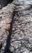 Rock Climbing Photo: On the way up...