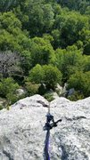 Rock Climbing Photo: ANCHOR 2; view from above.  this is meant to show ...