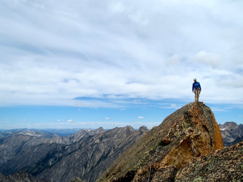 standing on the northern of the two summits