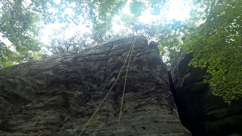 Rock Climbing Photo: Scarface requires a lot of webbing for top roping ...