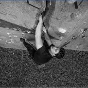 Rock Climbing Photo: Gym crack on lead