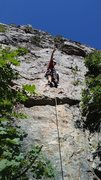 Rock Climbing Photo: Pete on the first ascent of Moss Lords of the Wasa...