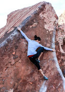 Rock Climbing Photo: Natalie Duran wing expanded to the max on Pork Cho...