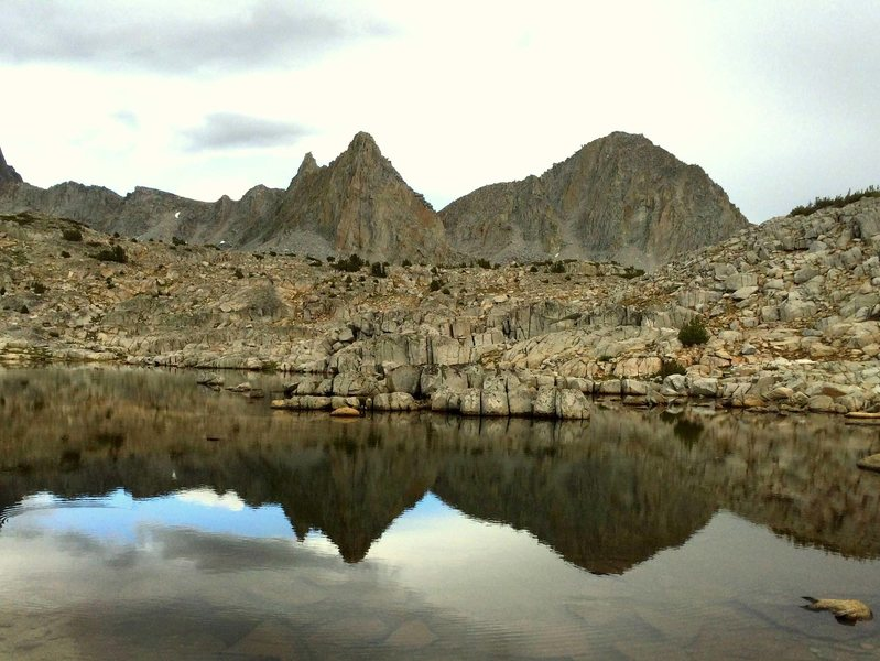 Isosceles Peak and reflection from Dusy Basin