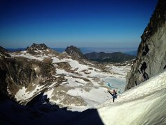 Rock Climbing Photo: Walking down from Dragontail on a hot 90 degree da...