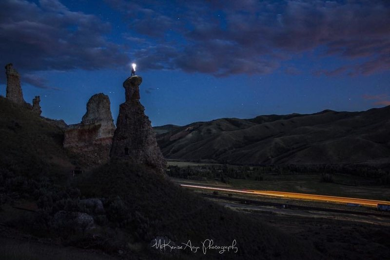 Rock Climbing Photo: Night Ascent of the Wicked Witch.  Photo: McKenzie...