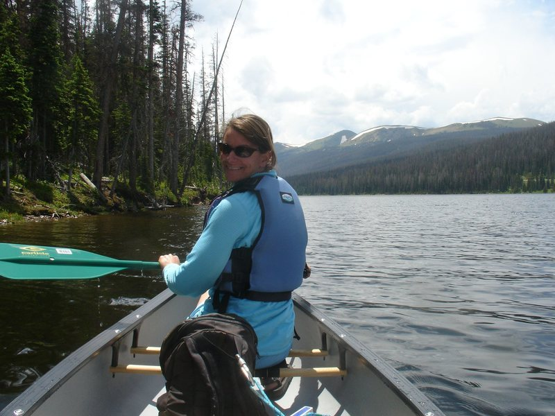 Rock Climbing Photo: High country canoeing
