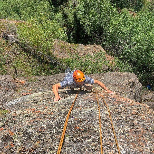 Todd nearing the top of the Son Volt Arete