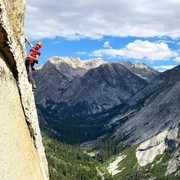 Rock Climbing Photo: End of the 9th pitch