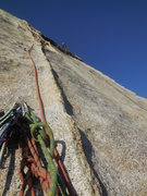 Rock Climbing Photo: Start of the 11th pitch
