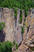 Rock Climbing Photo: Awesome route with fun moves. Even in a scorching ...