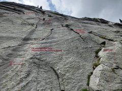 Rock Climbing Photo: First pitch options for FJL (Standard Route)