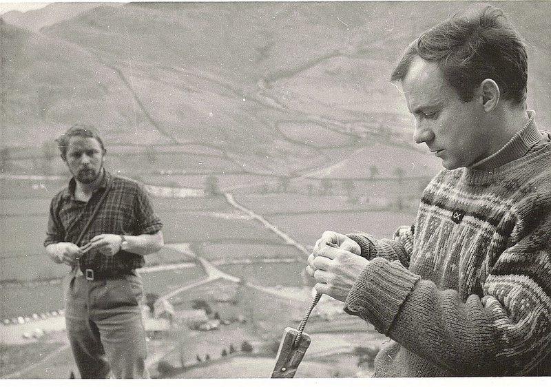 Rock Climbing Photo: Brian Robinson ..P.Ross Raven Crag ..Langdale 1966
