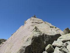 Rock Climbing Photo: Jake on top of Church Key.