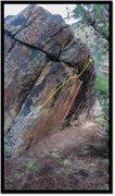 Rock Climbing Photo: Cold Chain problem beta.