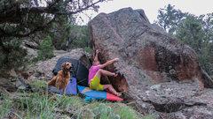 Rock Climbing Photo: Start beta of Vertical Pulse.