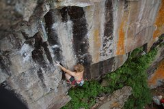 Rock Climbing Photo: Tyler at the shared start of Reflections and Symbi...