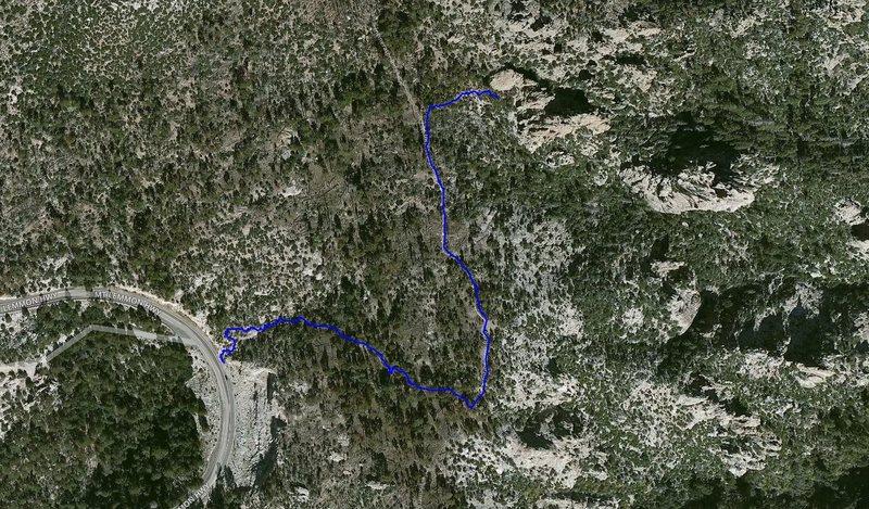 Ridgeline Approach tracked using Gaia GPS