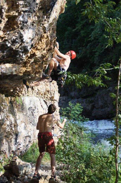 Rock Climbing Photo: Cruxy start of Doppler Effect