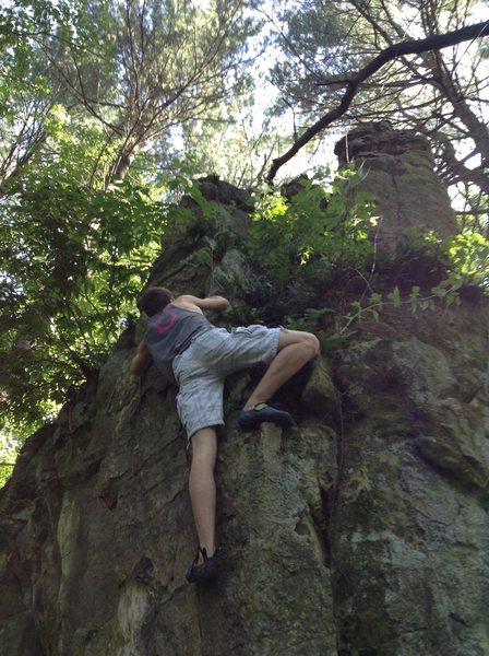 Rock Climbing Photo: Zander on So Black It's Blue