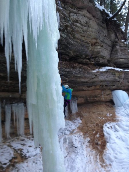 Climbing in Munising
