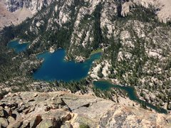 Rock Climbing Photo: Saddleback Lakes from the top of the Perch