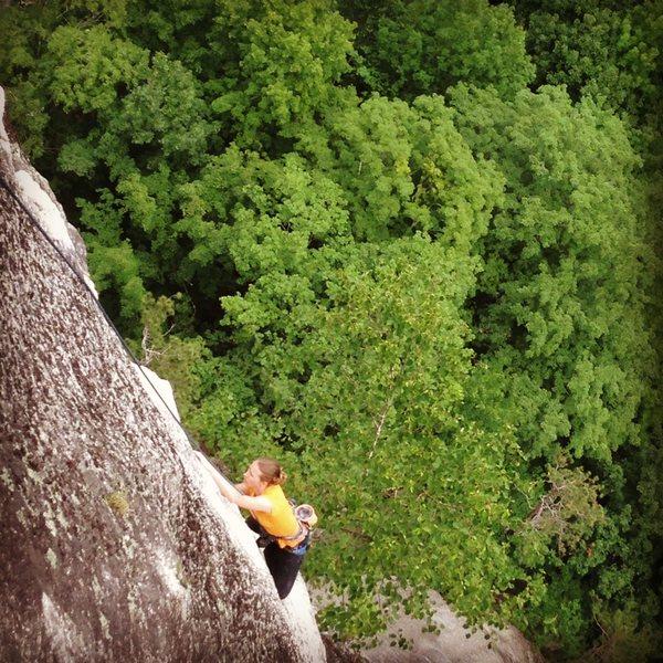 Amazing arete climbing... Torie
