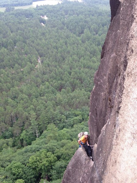 Epic belay location