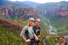 Rock Climbing Photo: At the top of Sinological. The top of the route af...