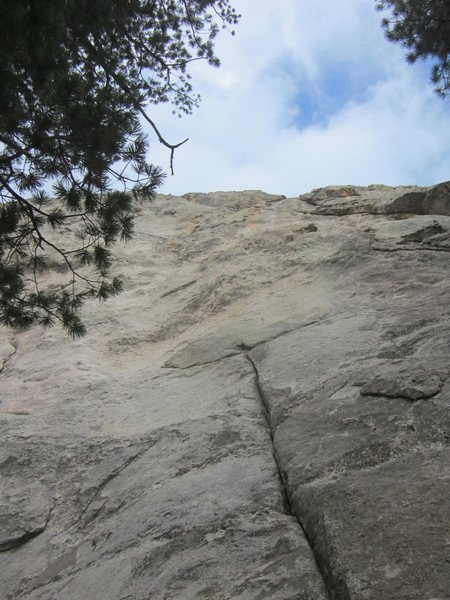 Looking up at the first pitch crack