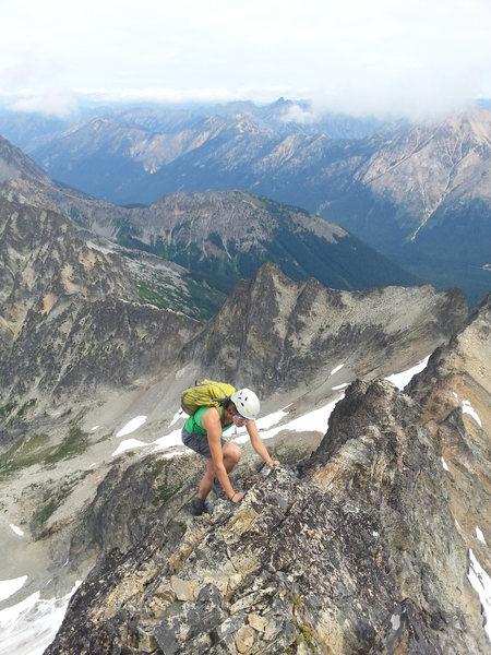 Rock Climbing Photo: High on the NE Ridge of Black Peak