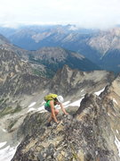 Rock Climbing Photo: High on the NE Ridge of Black Peak