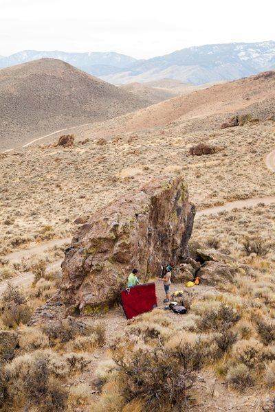 Rock Climbing Photo: Boulder A