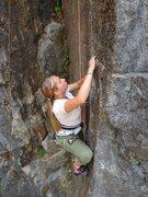 Rock Climbing Photo: michelle on uncomfortably dumb