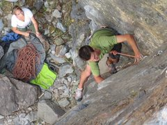 Rock Climbing Photo: a shot of myself that wasnt used for the falcon gu...
