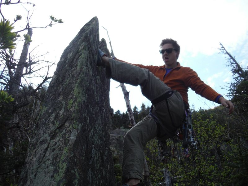 Bouldering at the top of the WG ridge: always be climbing.