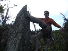 Rock Climbing Photo: Bouldering at the top of the WG ridge: always be c...