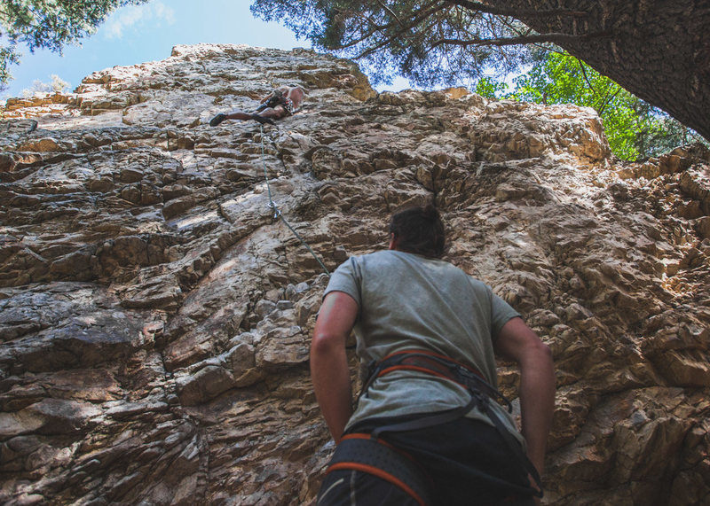 Rock Climbing Photo: view from the bottom of chug a jug