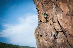 Rock Climbing Photo: P3 crux.