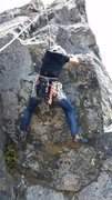 Rock Climbing Photo: Working on the Overhung Roof Problem as a top rope...