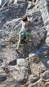 Rock Climbing Photo: Ayaka heading up the early moves of Osprey.  This ...