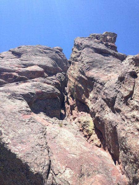 Rock Climbing Photo: Looking up the super fun chimney.