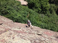 Rock Climbing Photo: Nice 5.0 approach from the east right under the ch...