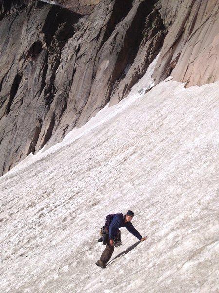 Rock Climbing Photo: CV snow