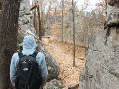 Rock Climbing Photo: Just past Chill heading toward the Ozzy area.
