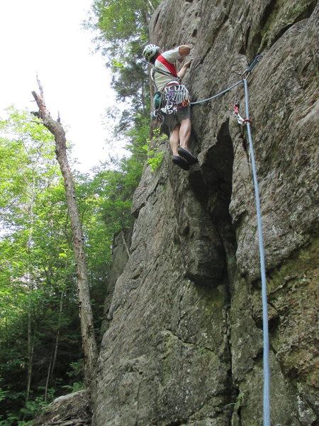 Rock Climbing Photo: The crux