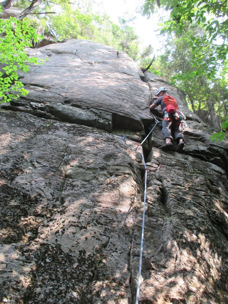 The crux on Evil Twin (5.8)